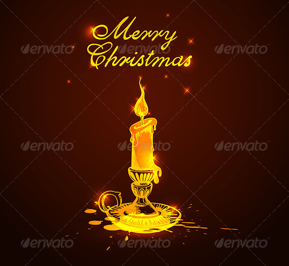 GraphicRiver Background with Shining Candle 6222117