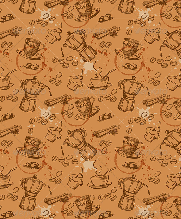 GraphicRiver Coffee Seamless Pattern 6222177