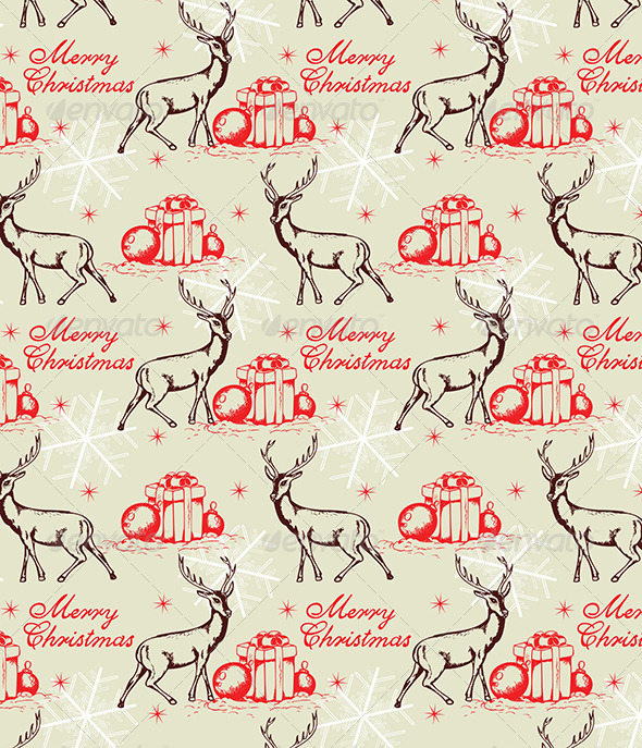 GraphicRiver Seamless Pattern with Deer 6222285