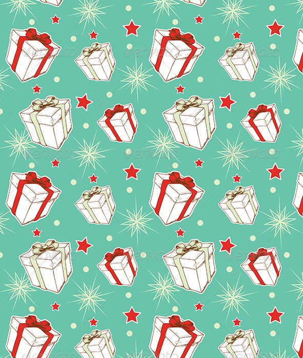 GraphicRiver Seamless Pattern with Christmas Gifts 6222372