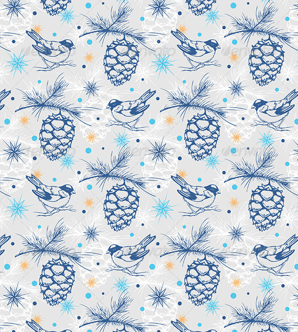 GraphicRiver Seamless Pattern with Birds 6222495