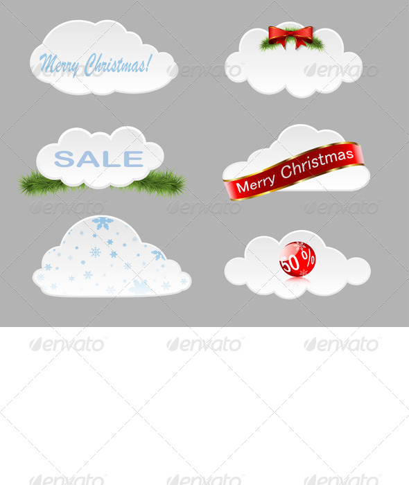 GraphicRiver Christmas Clouds 6222526