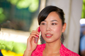 beautiful asian girl calling by mobile - PhotoDune Item for Sale
