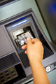 bank card at an chinese ATM to issue money - PhotoDune Item for Sale