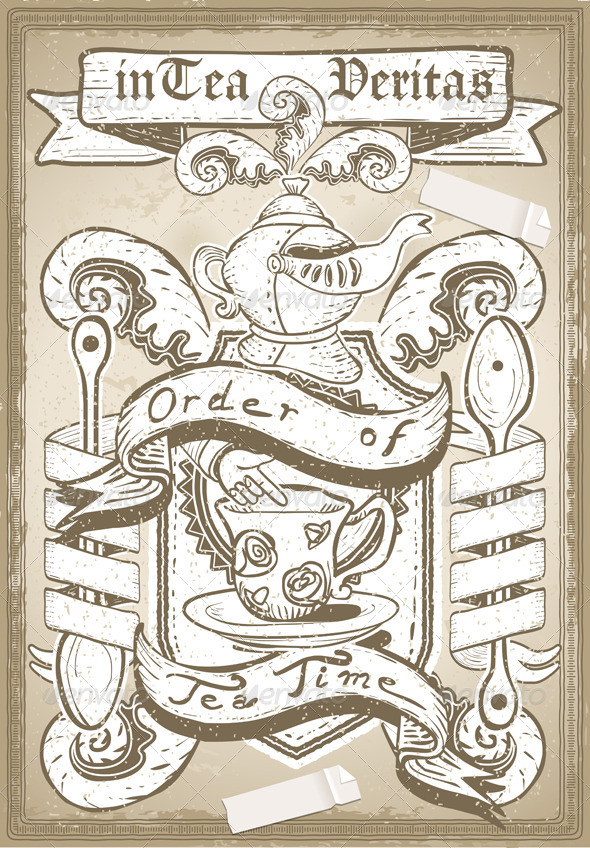 GraphicRiver Vintage Coat of Arm for Bar or Restaurant 6217594