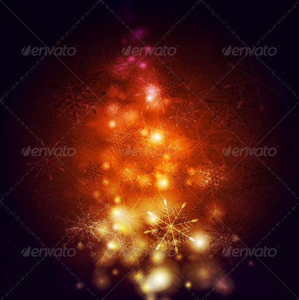 GraphicRiver Abstract Vector Shiny Christmas Background 6222874