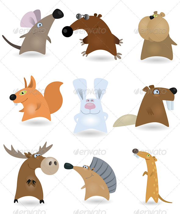 GraphicRiver Vector animals set #2 644123