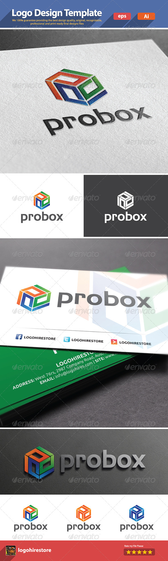 GraphicRiver Hexagon Box Logo 5966345