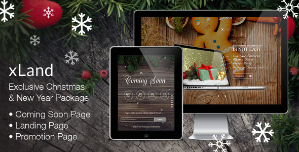 ThemeForest xLand Exclusive Christmas New Year Package 6223755
