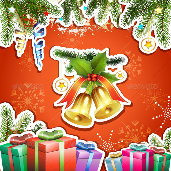 GraphicRiver Christmas Bells and Gifts 6224018