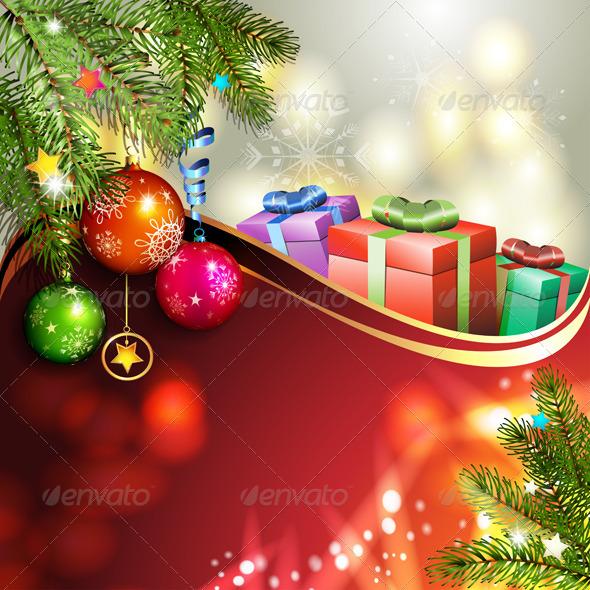 GraphicRiver Christmas Gifts and Balls 6224054
