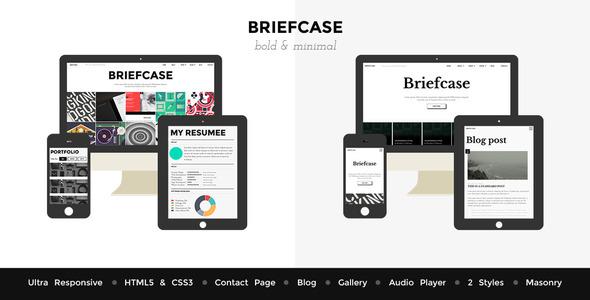 ThemeForest Briefcase HTML Bold & Flat Portfolio 4 Designers 6193394