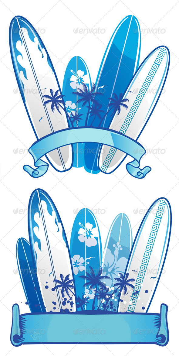 GraphicRiver Surfboard Background 6124441