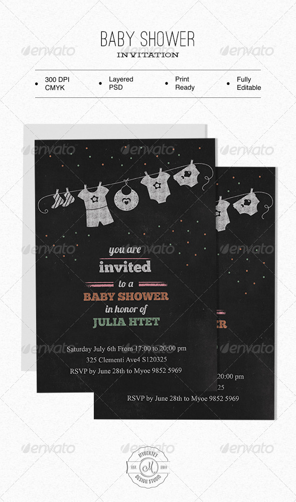 GraphicRiver Baby Shower Invitation 6206120