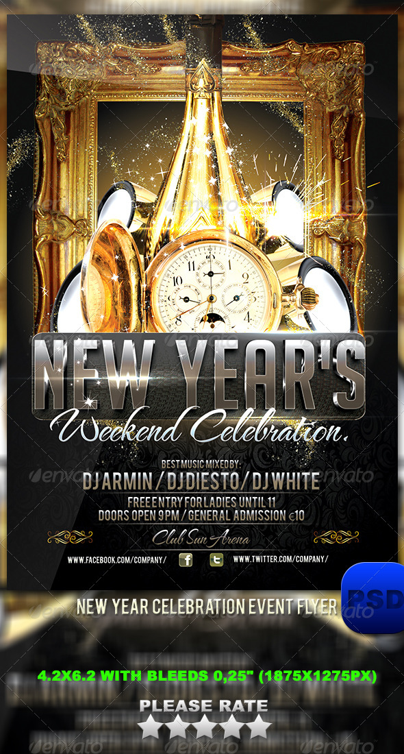 GraphicRiver New Year Celebration Event Flyer 6224954