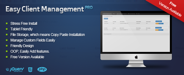 CodeCanyon Easy Client Management Pro 6211148