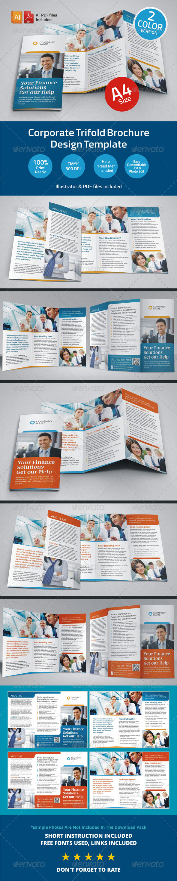 GraphicRiver Corporate Finance Trifold Brochure 6226538