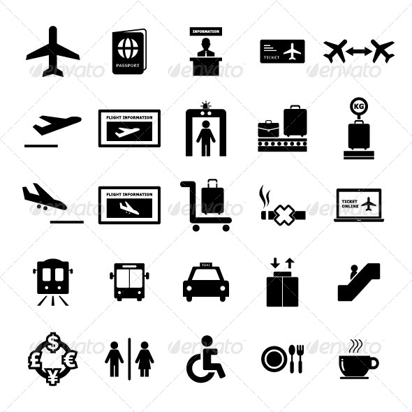 GraphicRiver Airport Icon set 6226844