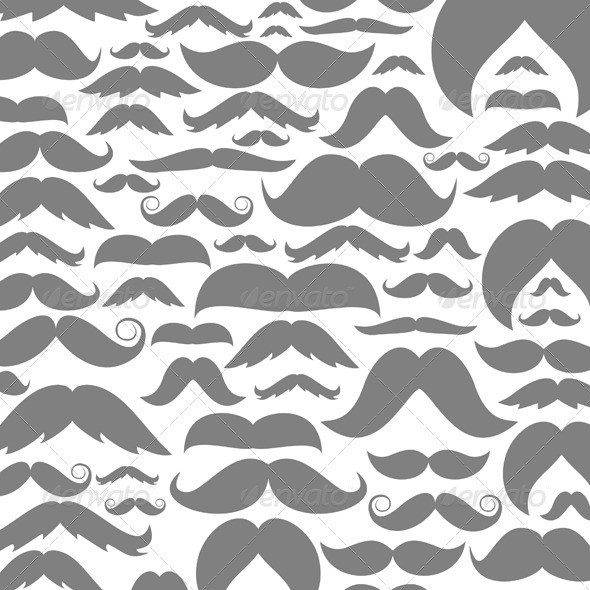 GraphicRiver Moustaches Background 6227165