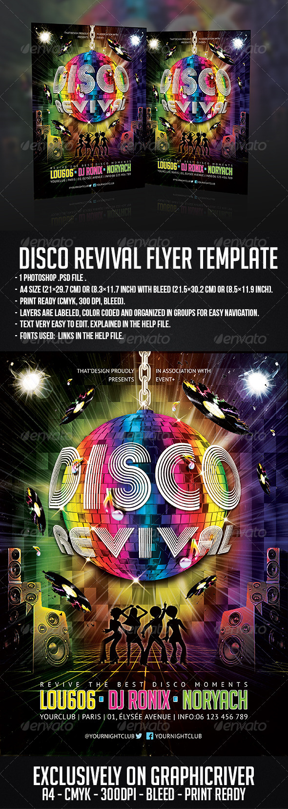 GraphicRiver Disco Revival Flyer Template 6227199