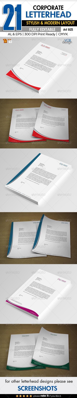 GraphicRiver 21 Corporate Letterhead 6227225