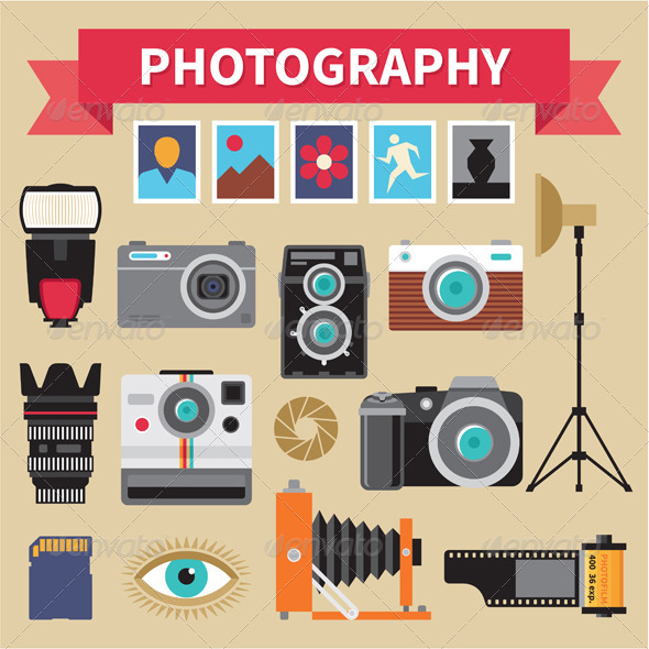GraphicRiver Photography Vector Design Elements 6227254