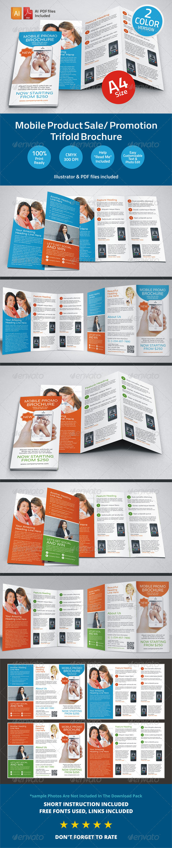 GraphicRiver Mobile Product Sale Promotion Trifold Brochure 6227443