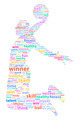 Basketball Player Sports Word Cloud - PhotoDune Item for Sale