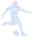 Soccer Football Player Sports Word Cloud - PhotoDune Item for Sale