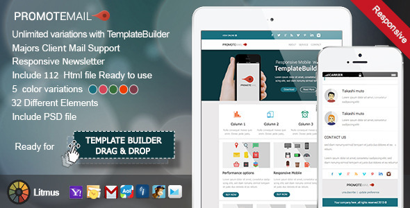 ThemeForest PromoteMail Responsive E-mail Template 6228066