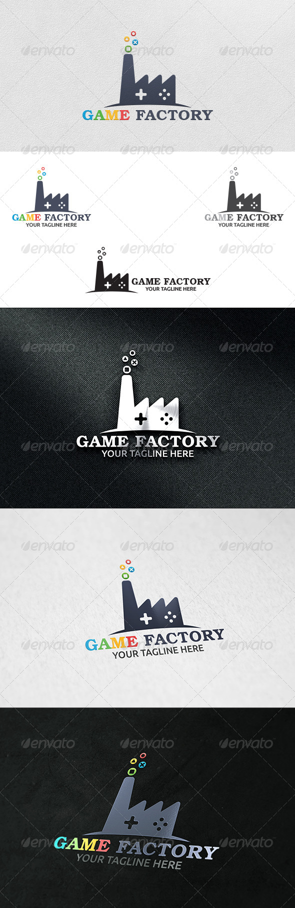 GraphicRiver Game Factory Logo Template 6228342