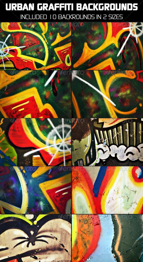 GraphicRiver Urban Graffiti Backgrounds v3 6228449