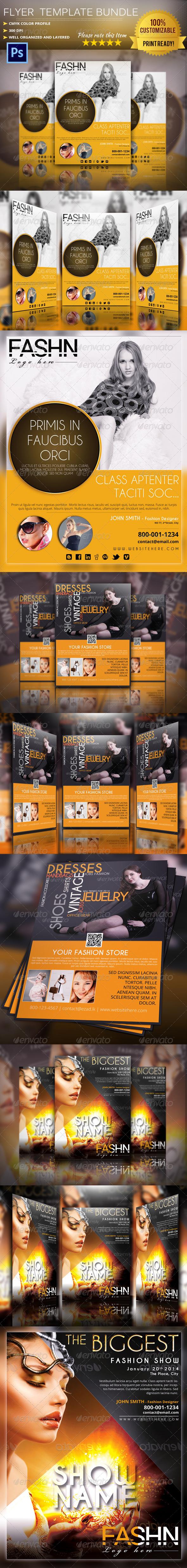 GraphicRiver Fashion Flyer Poster Bundle 6228515