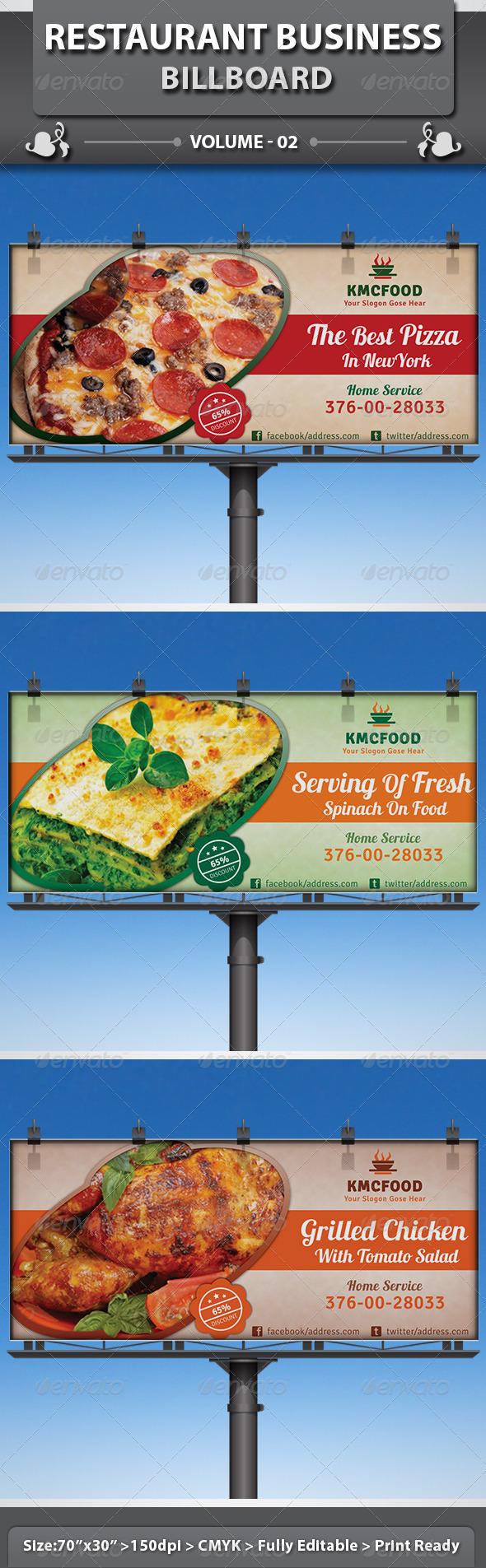 GraphicRiver Restaurant Business Billboard v2 5092190
