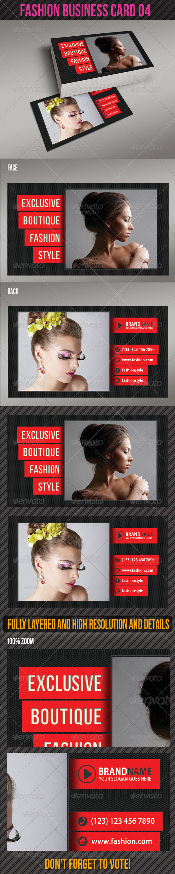 GraphicRiver Fashion Business Card 04 6228983