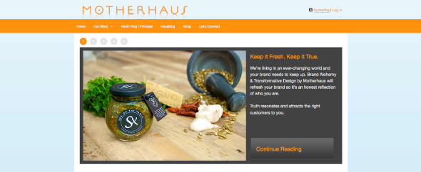Motherhaus-homepage