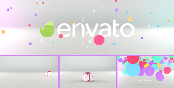 AE模板-有趣丰富多彩搞笑圣诞节礼盒演绎标志LOGO开场视频模板含音效Tricky Christmas Box 免费下载