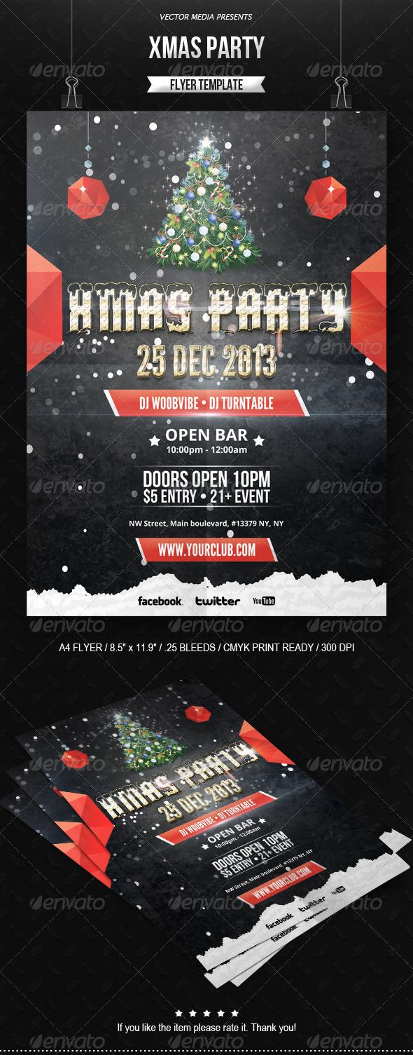 GraphicRiver Xmas Party Flyer 6229983