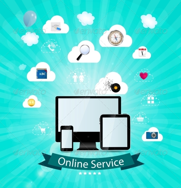 GraphicRiver Online Service Concept Vector Illustration 6229988