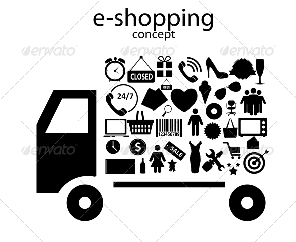 GraphicRiver E-shopping Concept Icons 6229990