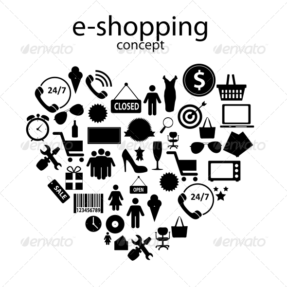 GraphicRiver E-shopping Concept Icons 6229991