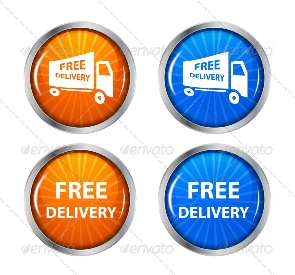 Free Shipping Delivery Icon Set