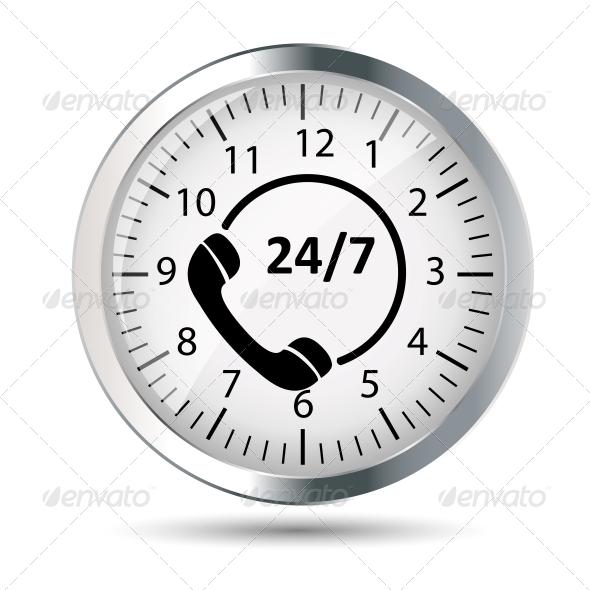 GraphicRiver Customer Service 24 7 Application Icon 6230105