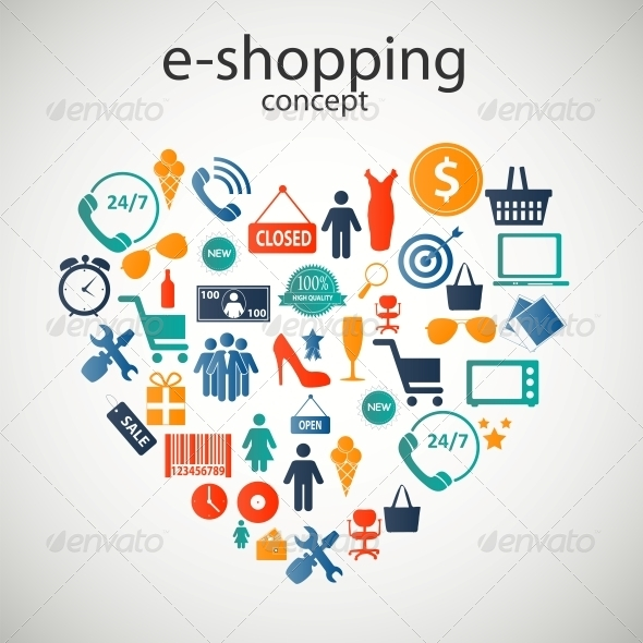 GraphicRiver E-Shopping Concept Icons 6230107