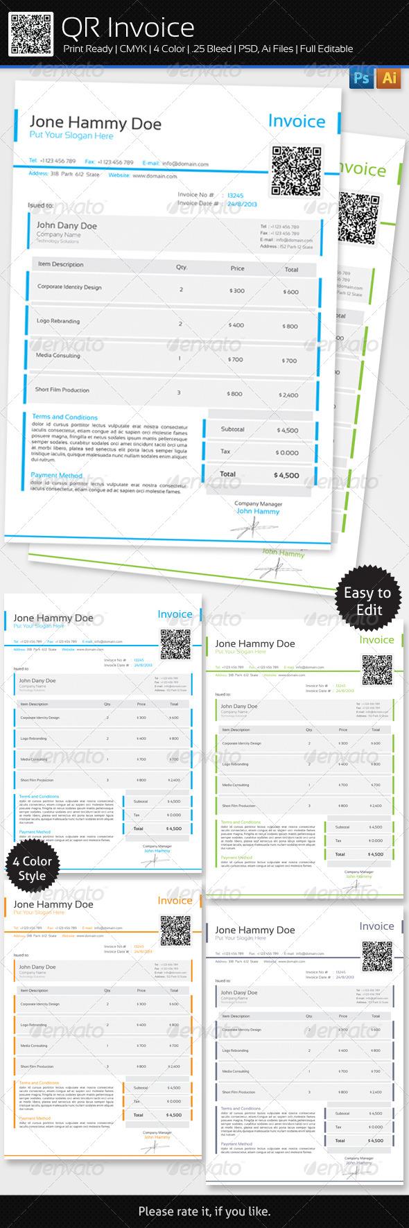 GraphicRiver QR Invoice 6136360