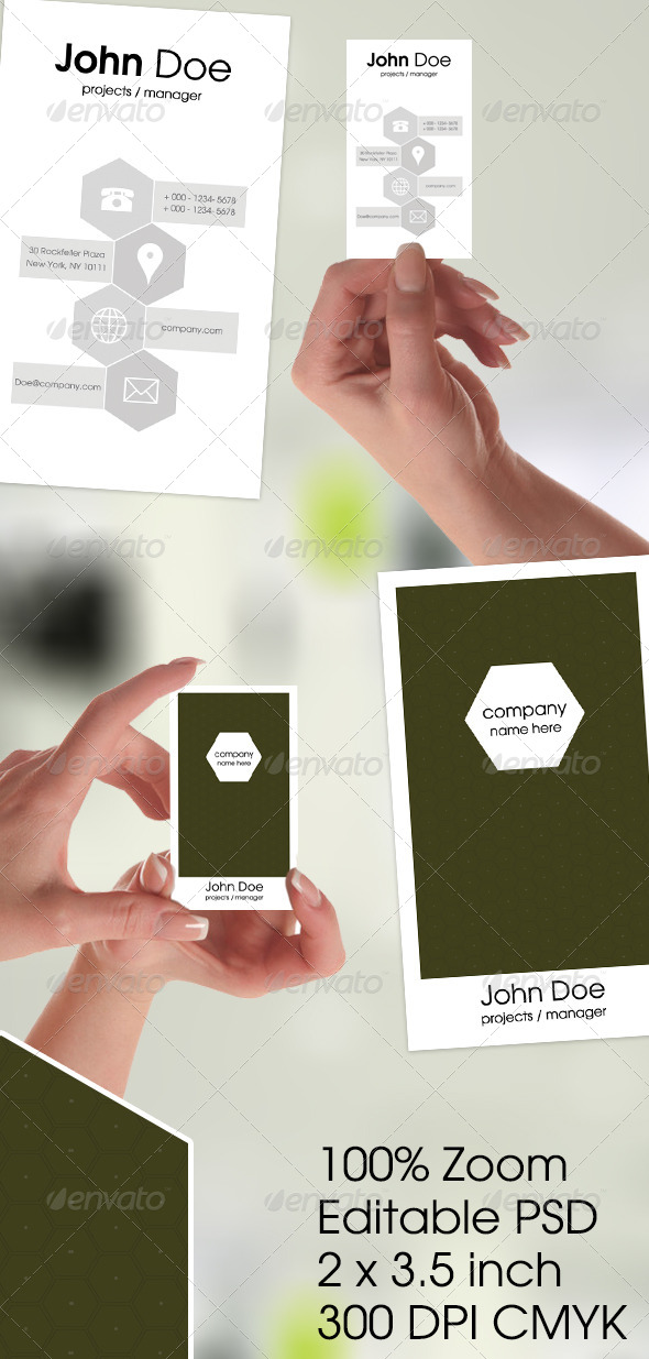 GraphicRiver Clean Corporate Business Card 6160524