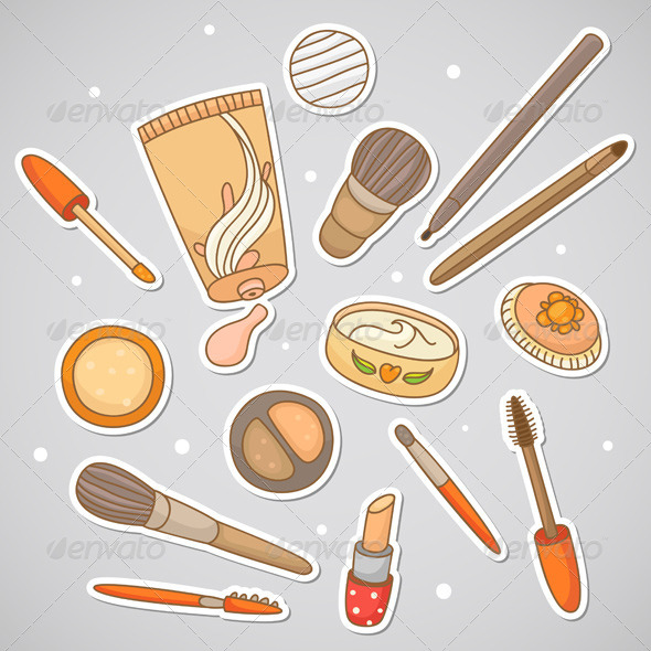 GraphicRiver Stickers with Cosmetics 6230499