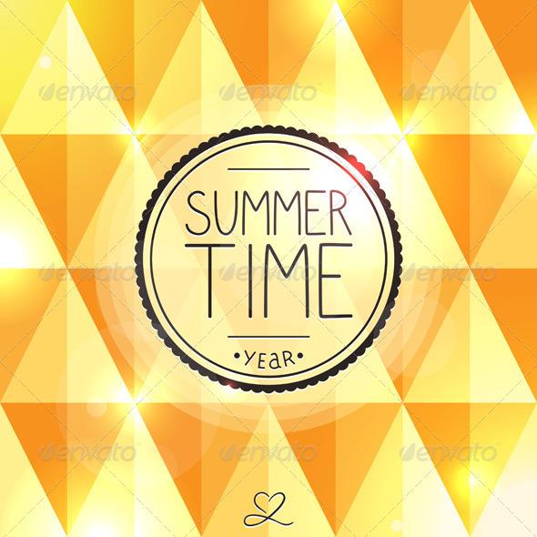 GraphicRiver Bright Summer Card 6230511