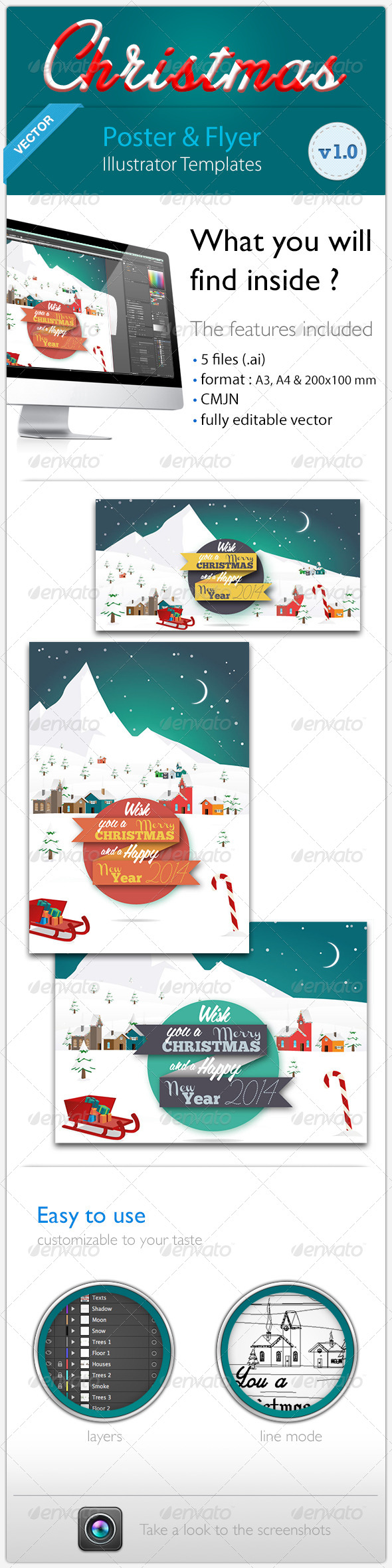 GraphicRiver Christmas & New Year Poster & Flyer 6174364