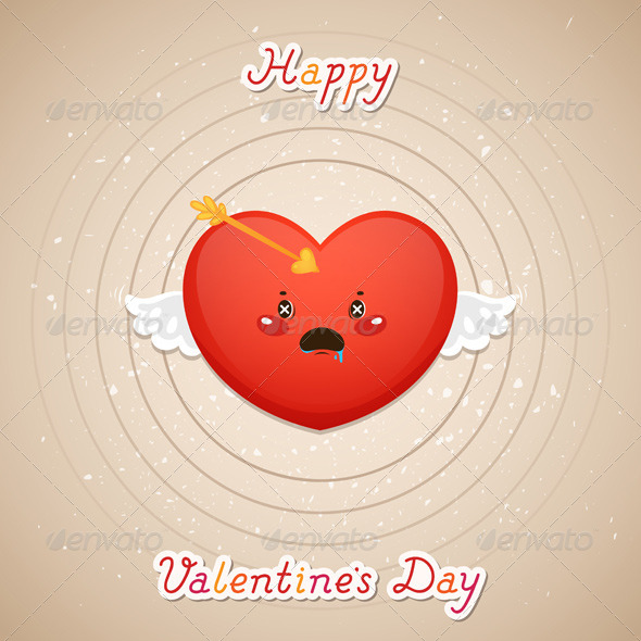 GraphicRiver Valentines Day Heart and Target 6230597